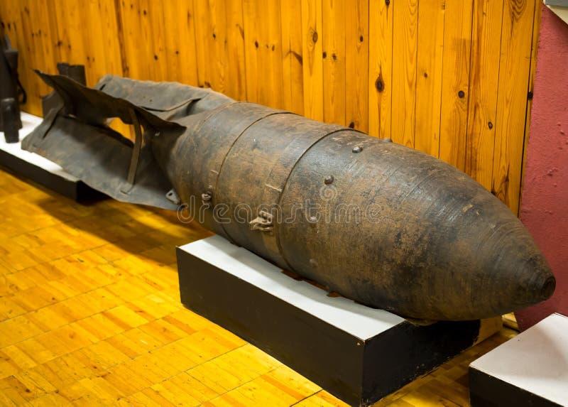 Oude luchtbom van de Grote Patriottische Oorlog stock afbeelding