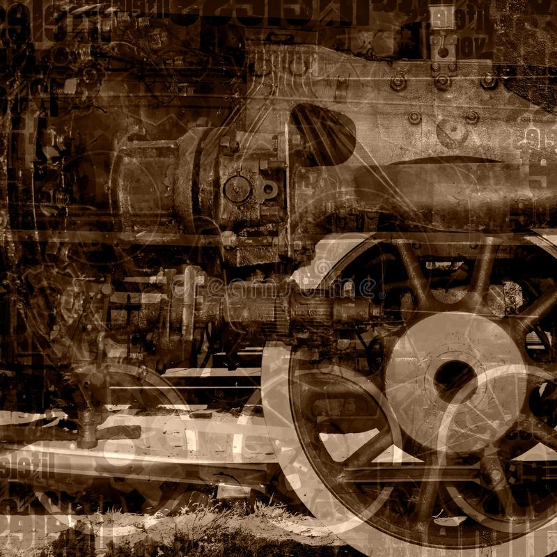 Oude machinesillustratie royalty-vrije illustratie