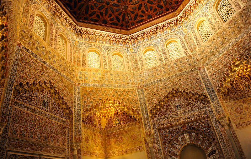 Oude madrasa, Granada, Spanje stock afbeeldingen