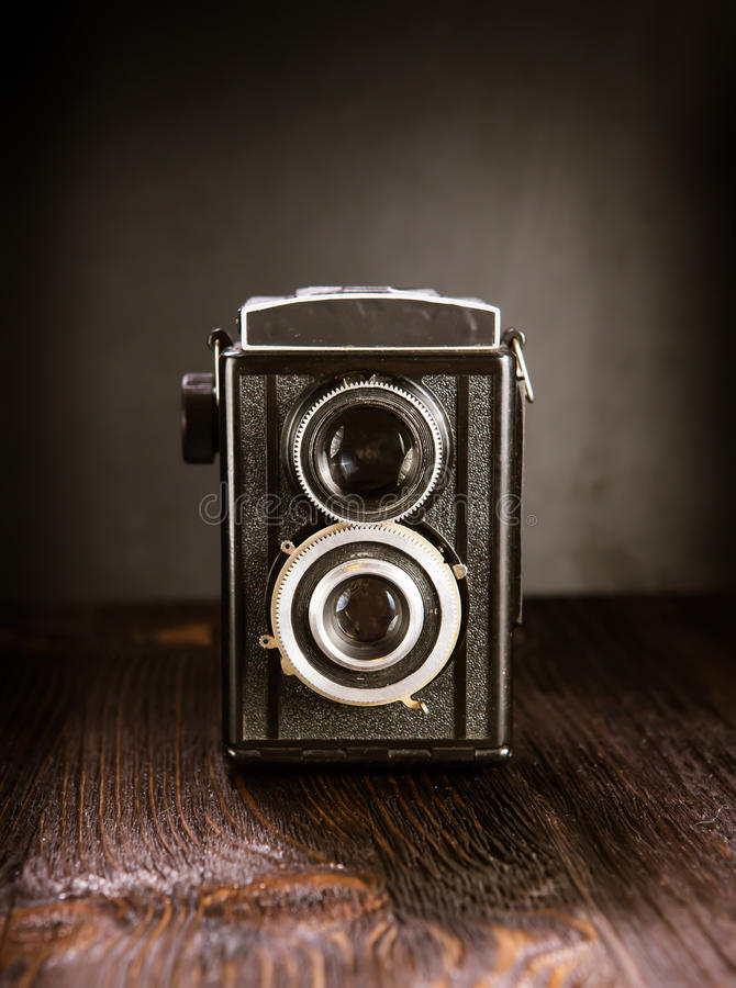 Oude Manier antieke camera stock fotografie