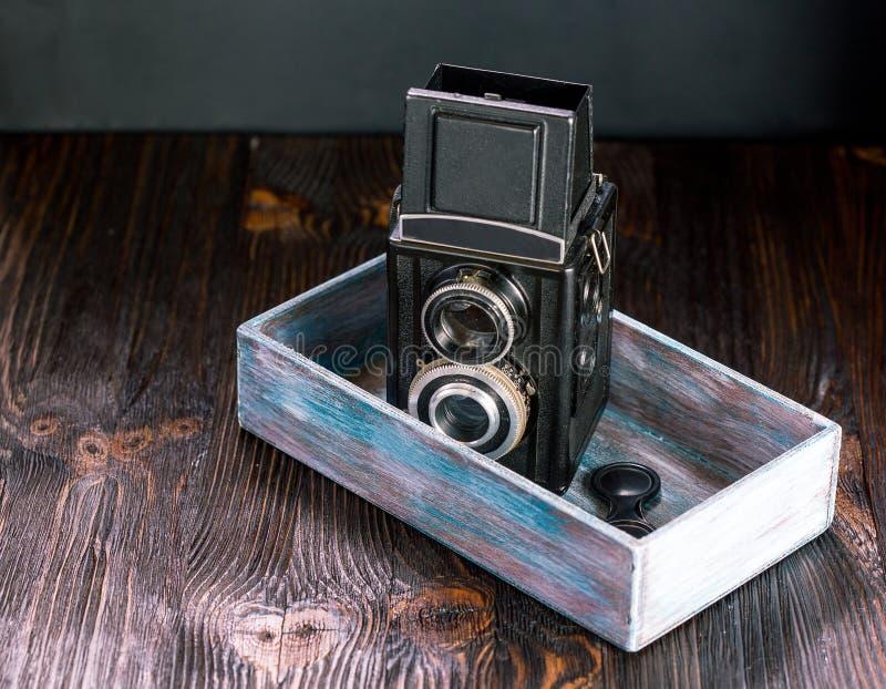 Oude Manier antieke camera stock afbeeldingen