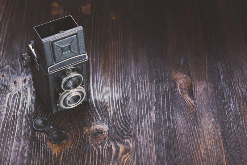 Oude Manier antieke camera royalty-vrije stock foto