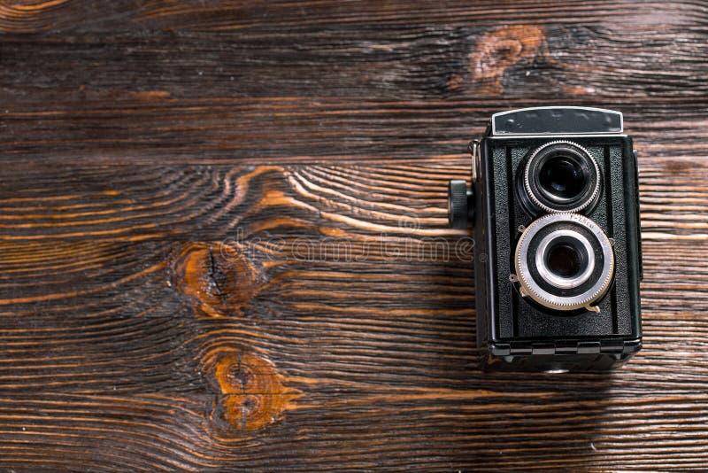 Oude Manier antieke camera royalty-vrije stock foto's