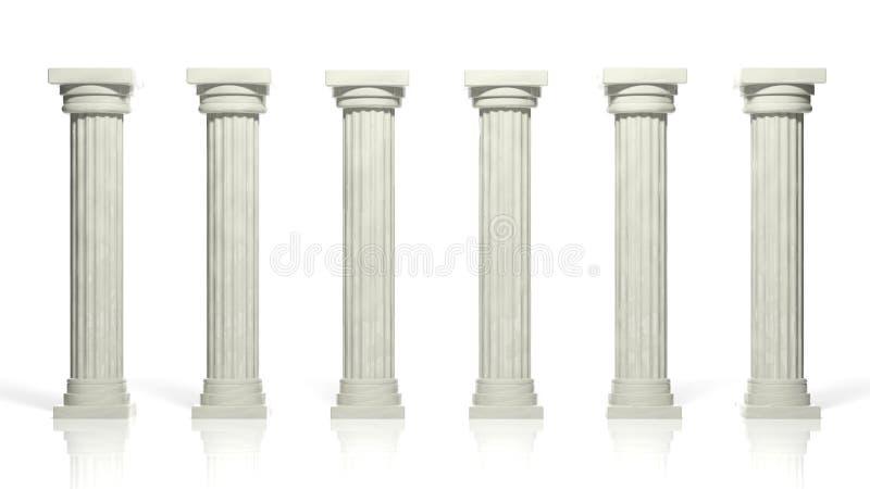 Oude marmeren pijlers vector illustratie