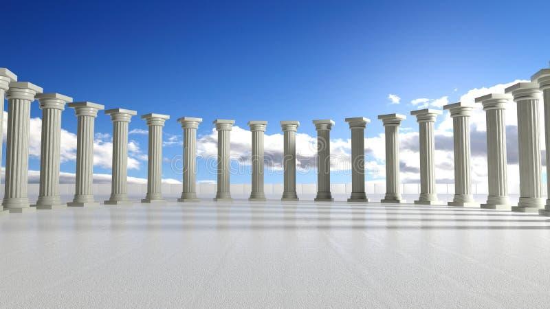 Oude marmeren pijlers royalty-vrije illustratie