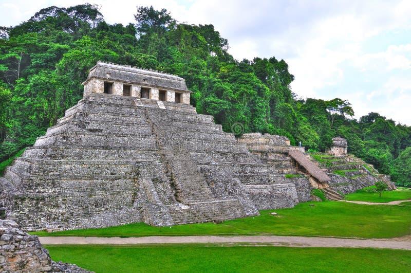 Oude Maya van Palenque Tempels, Mexico royalty-vrije stock afbeelding