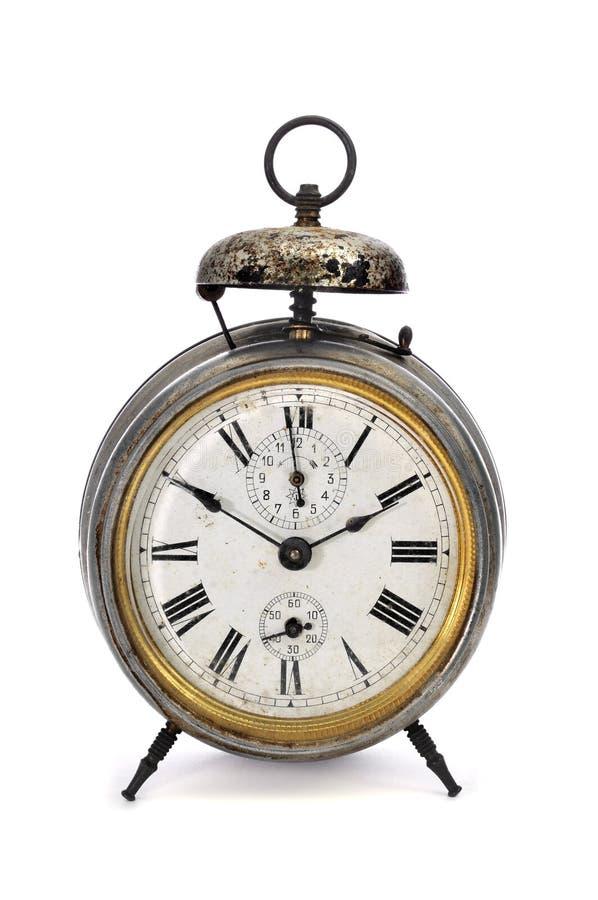 Oude mechanische wekker royalty-vrije stock afbeelding