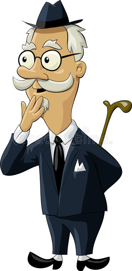 Oude mens royalty-vrije illustratie