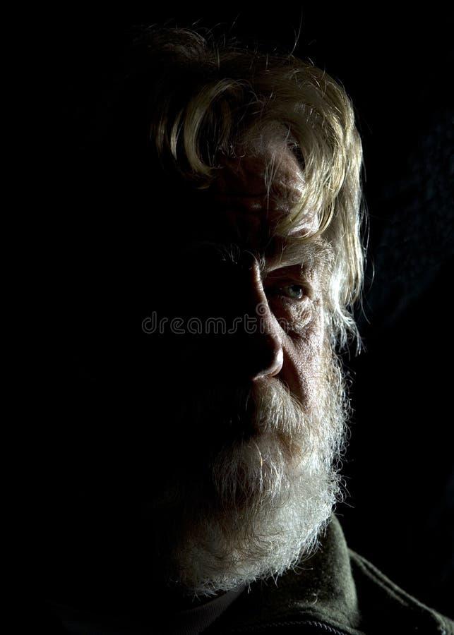 Oude mens 3 stock afbeeldingen