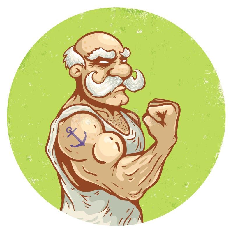 Oude mens vector illustratie