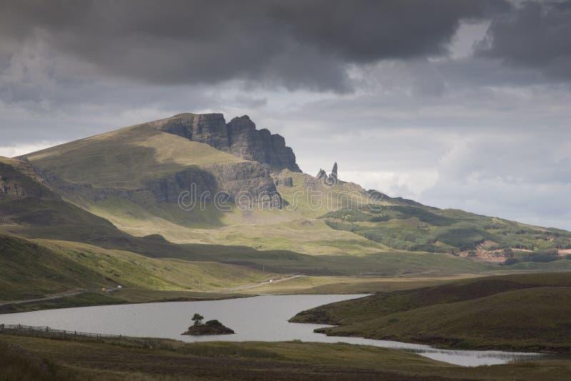 Oude Mens van Storr, Eiland van Skye royalty-vrije stock afbeelding