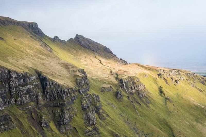 Oude Mens van Storr in Schotland, eiland van Skye stock foto