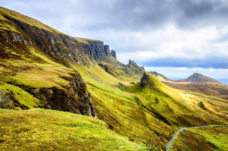 Oude Mens van Storr in Schotland, eiland van Skye royalty-vrije stock afbeelding