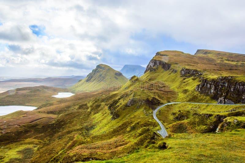 Oude Mens van Storr in Schotland, eiland van Skye royalty-vrije stock afbeeldingen