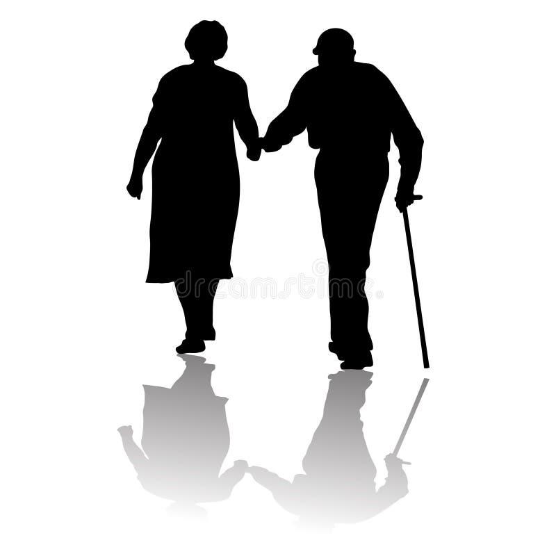 Oude mensen royalty-vrije illustratie
