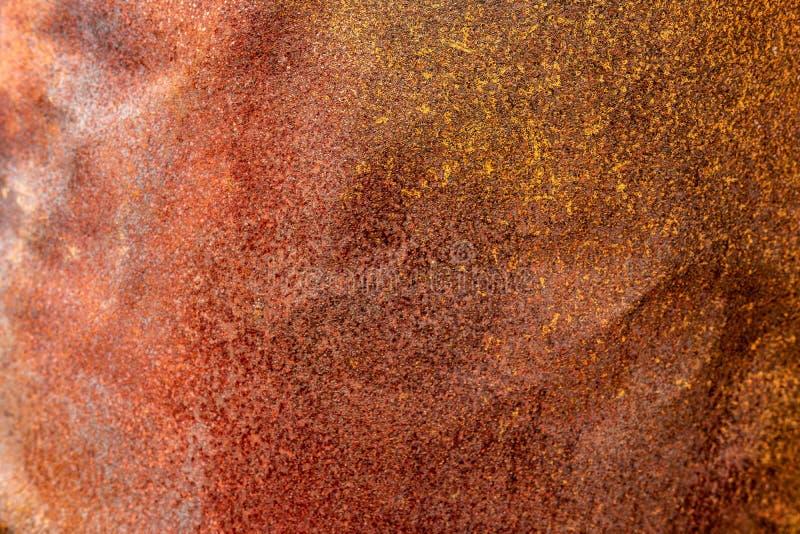 Oude Metaal Geroeste Grunge-Achtergrond De corrosie Geoxydeerde Oppervlakte van de Ijzertextuur stock fotografie