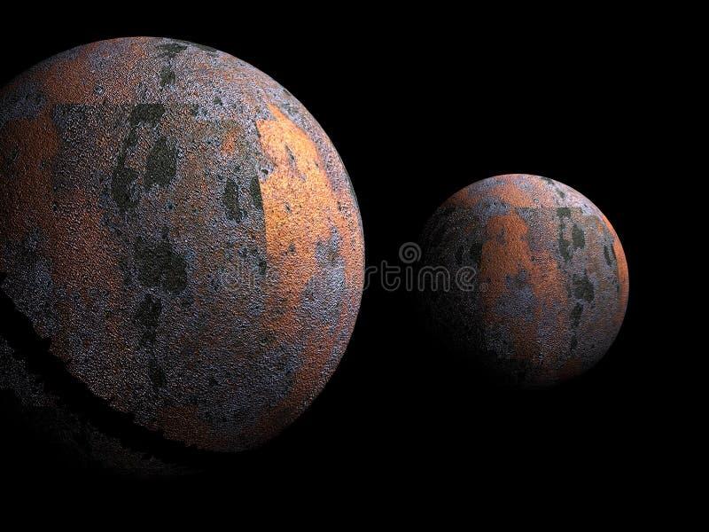 Oude metaalplaneten 4 royalty-vrije illustratie