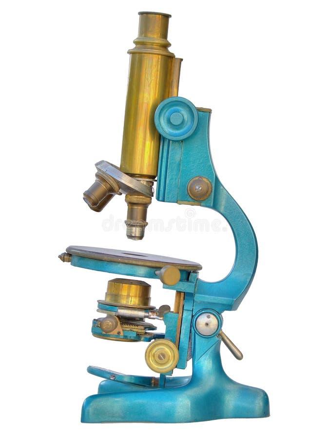 Oude microscoop royalty-vrije stock afbeelding