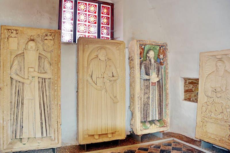 Oude middeleeuwse ernstige steen royalty-vrije stock foto's