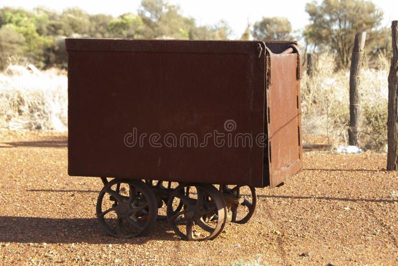 Oude Mijnbouwkar royalty-vrije stock foto's