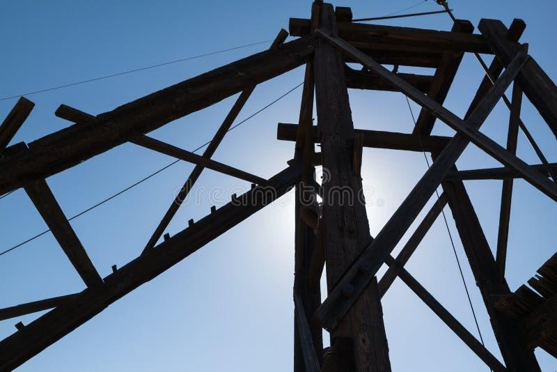 Oude mijnbouwstructuur royalty-vrije stock afbeelding