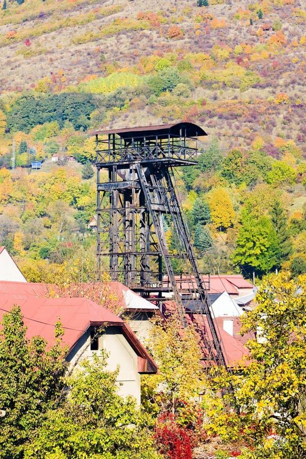 oude mijnbouwtoren, Kremnice, Slowakije stock afbeelding