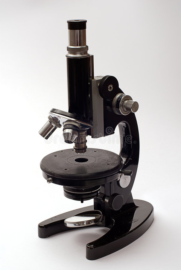 Oude mikroscope royalty-vrije stock foto's