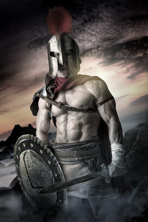 Oude militair of Gladiator royalty-vrije stock foto's