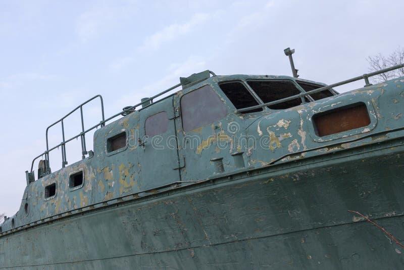 Oude militaire boot royalty-vrije stock afbeeldingen