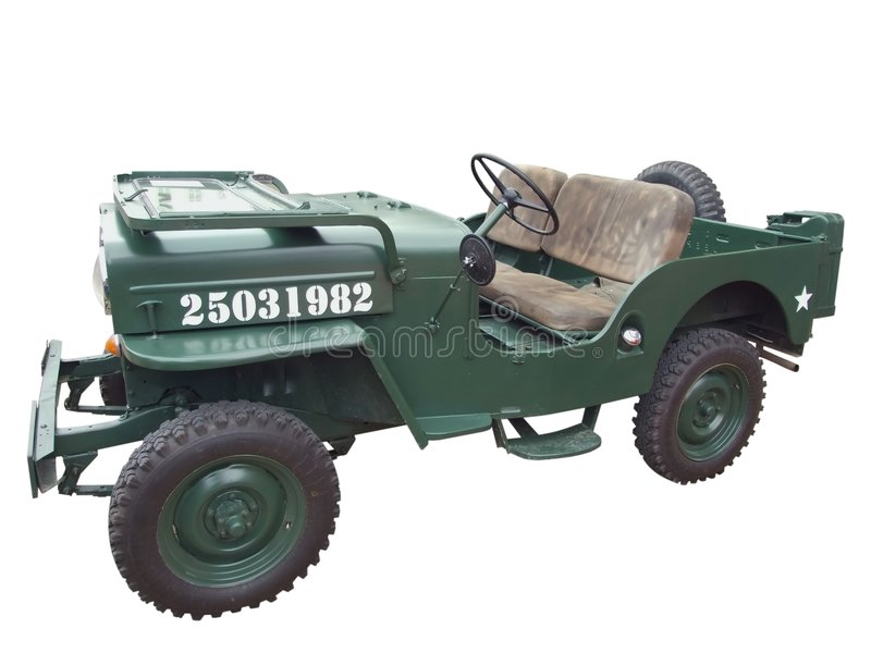 Oude militaire jeep stock fotografie