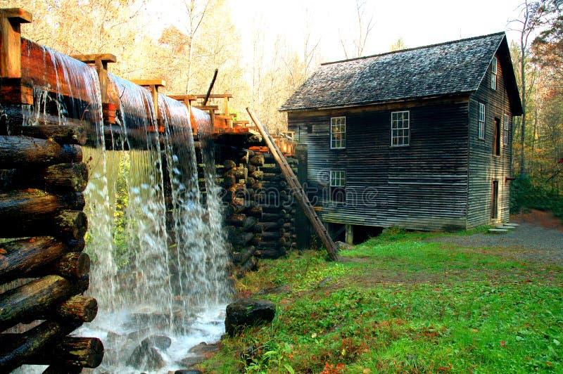 Oude molen in Noord-Carolina stock afbeelding