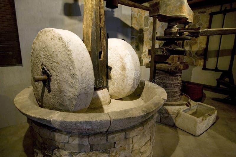 Oude molenstenen op eiland Korcula in Kroatië royalty-vrije stock afbeelding