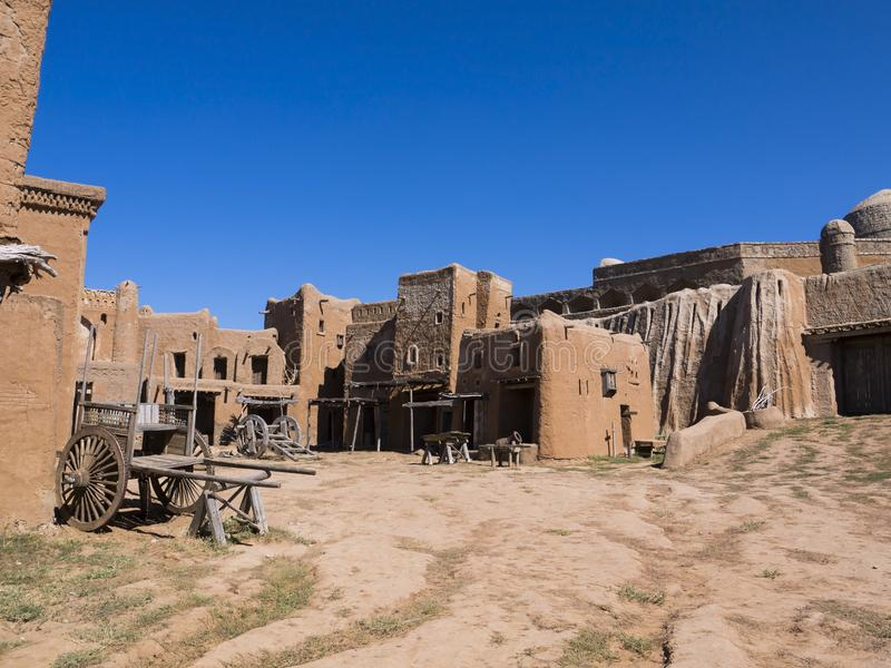 Oude Mongoolse nederzettingen royalty-vrije stock afbeelding