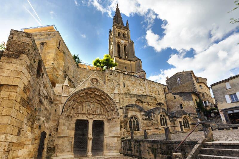 Oude monolithische kerk royalty-vrije stock foto's