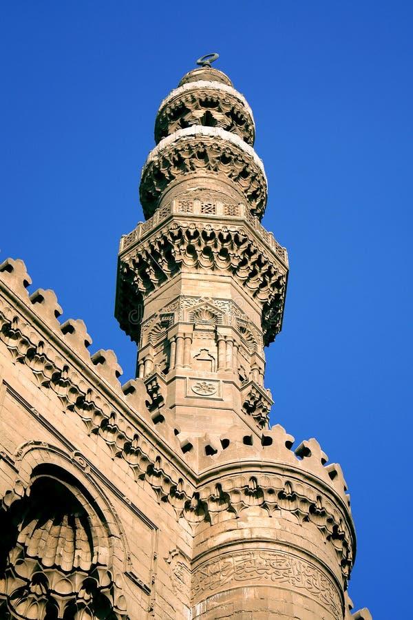 Oude moskee in Kaïro royalty-vrije stock afbeeldingen