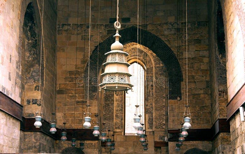 Oude moskee in Kaïro royalty-vrije stock fotografie