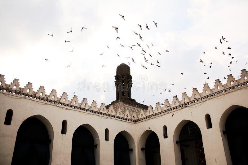 Oude moskee in Kaïro royalty-vrije stock foto's