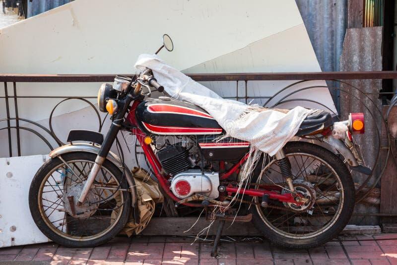 Oude motorfiets stock foto's