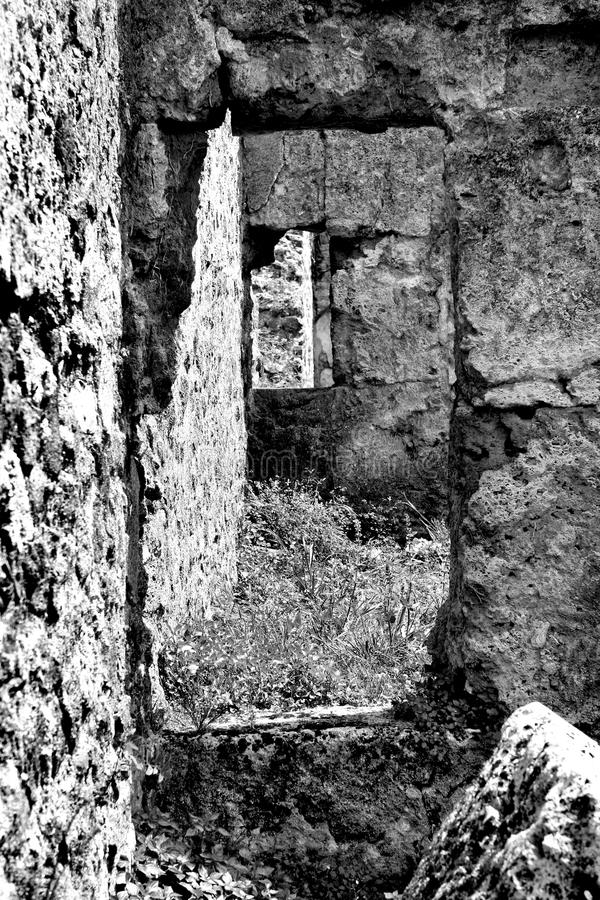 Oude muren en deuren royalty-vrije stock foto's