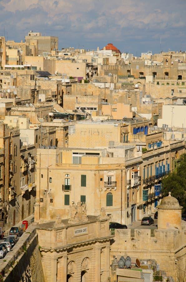 Oude muren en straten van Valletta royalty-vrije stock fotografie