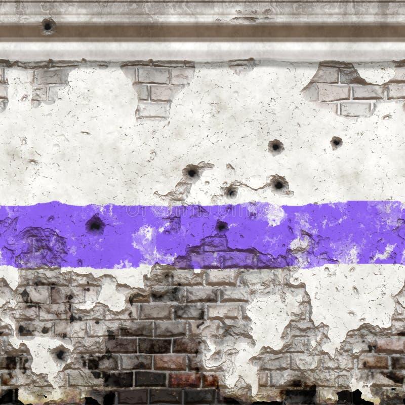 Oude muur in bederf stock illustratie