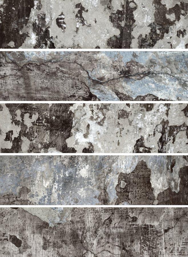 Oude Muur. Inzameling van banners voor websites stock afbeelding