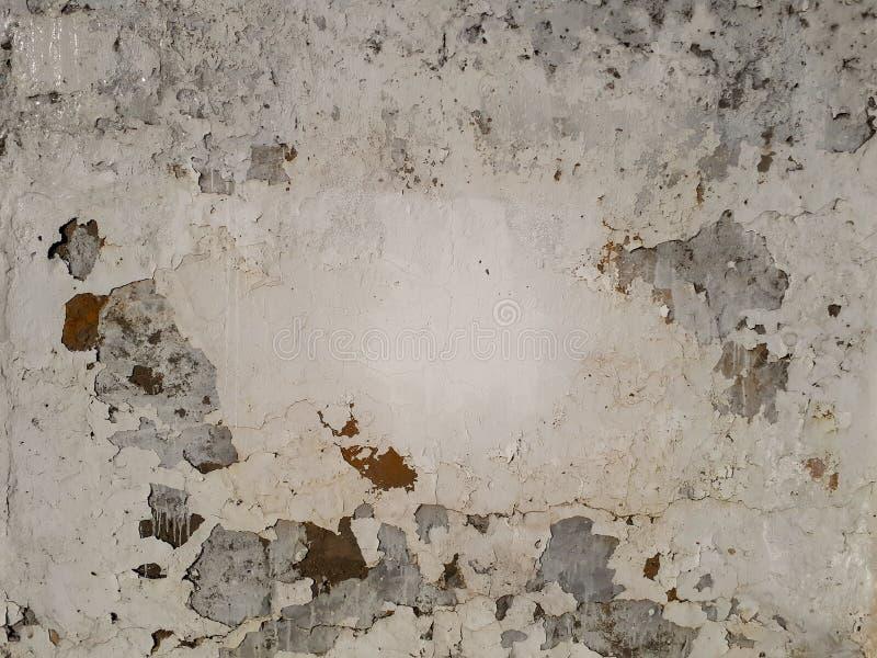 Oude muur met ongelijk pleister royalty-vrije stock afbeeldingen