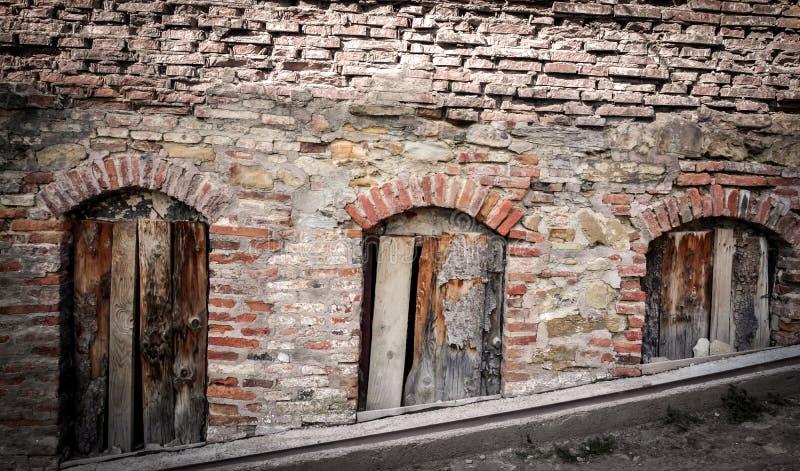 oude muurruïne royalty-vrije stock afbeeldingen