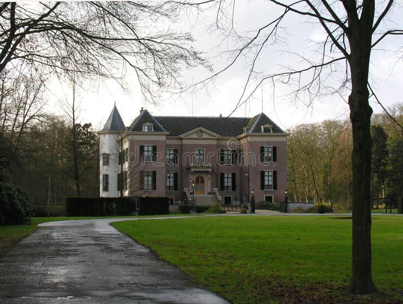 Oude Nederlandse landhouse royalty-vrije stock afbeelding