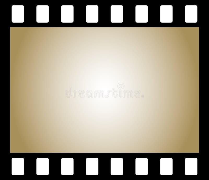 Oude negatieve fotofilm stock illustratie