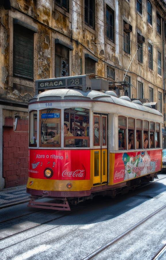 Oude nham in Lissabon stock fotografie