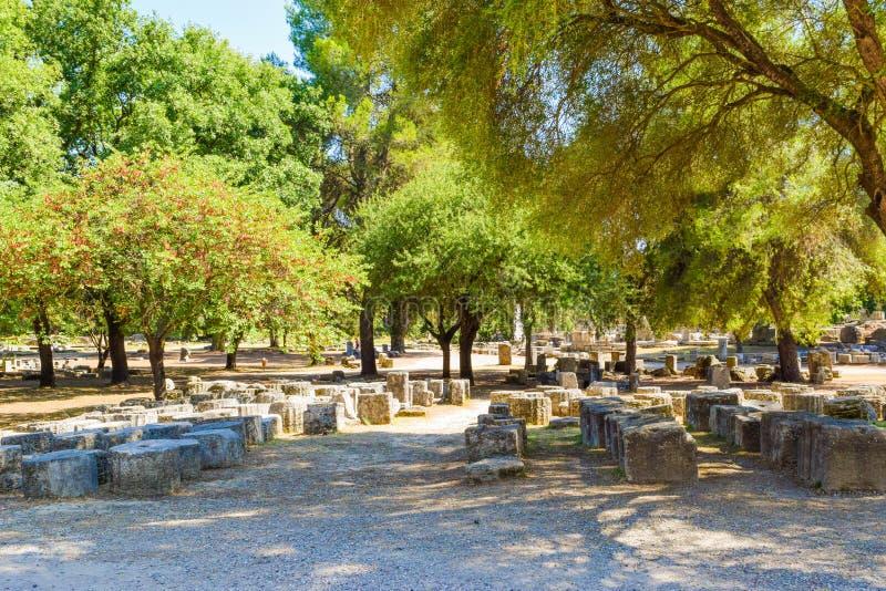 Oude Olympia, Griekenland royalty-vrije stock foto's
