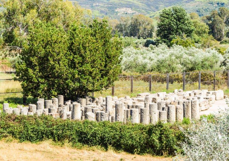 Oude Olympia, Griekenland stock afbeelding