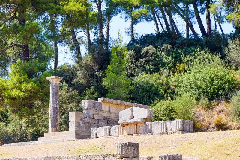 Oude Olympia, Griekenland stock foto